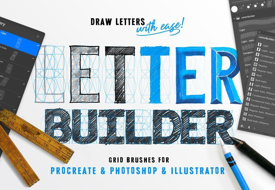 Procreate Tutorial | Love Wallpaper | Lettering with Ian Barnard's Letter Builder ToolKit 1
