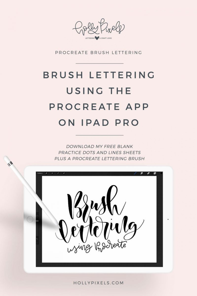 I've had numerous people ask me about how I am using Procreate on iPad Pro to create brush lettering that I do for my Friday Brush Lettering videos. I decided to create a video to the basic gist of how you use it and how the software works.