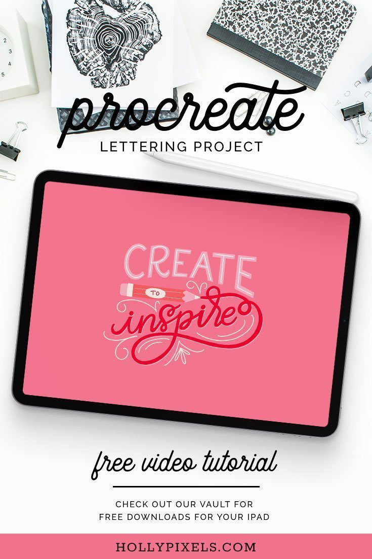 Want to learn how to hand letter a cute instagram worthy quote in Procreate? This week I'm showing you how to letter using Procreate brushes, plus the grid builder from Ian Barnard. Learn how to quickly create gorgeous lettering compositions with these tools!