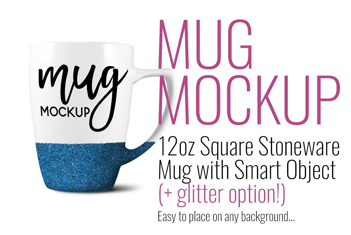 My pal, Sarah makes some of the best mockups! She has these super cute coffee mugs in different styles actually! The glitter dipped parts make it feel so fun and youthful. She also has easy videos on how to use them, too!