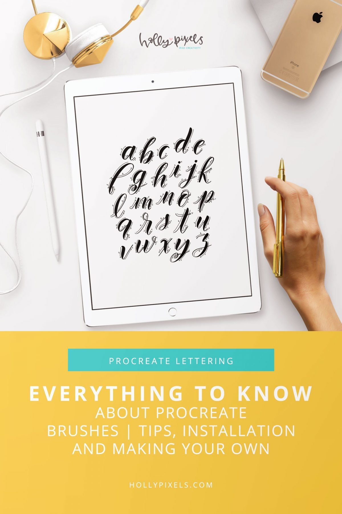 The power of Procreate comes with the amazing amount of brushes available. This post will help you discover everything you wanted to know about Procreate brushes!