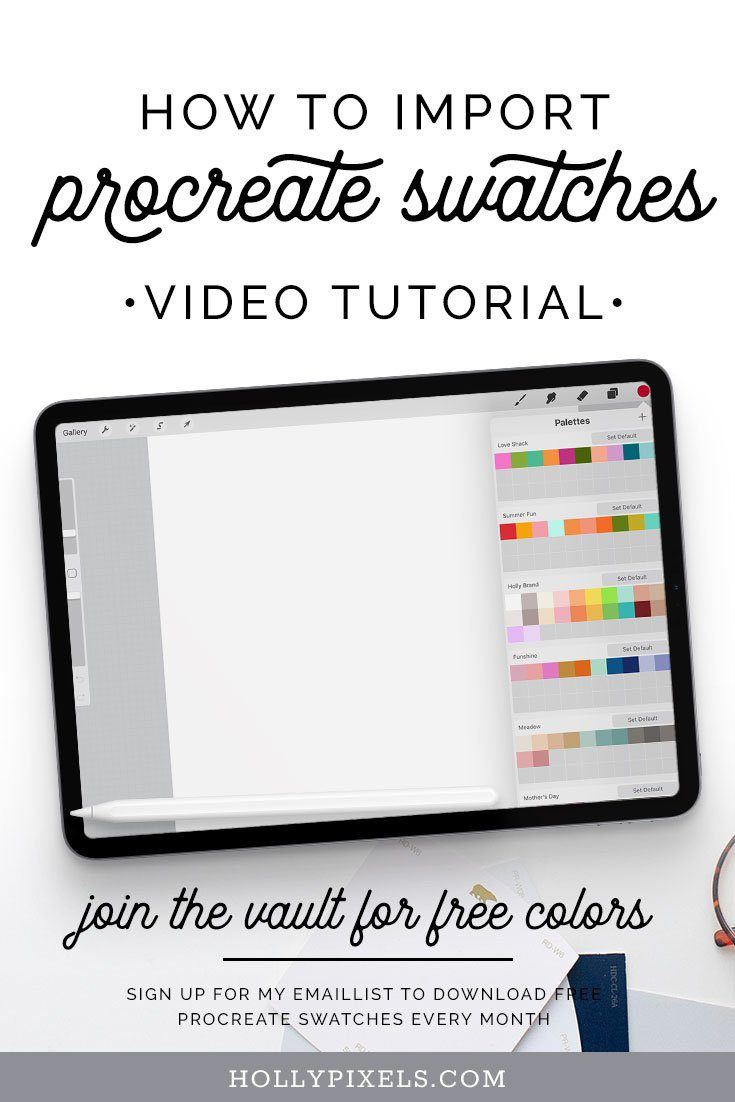 How to Import Procreate Swatches