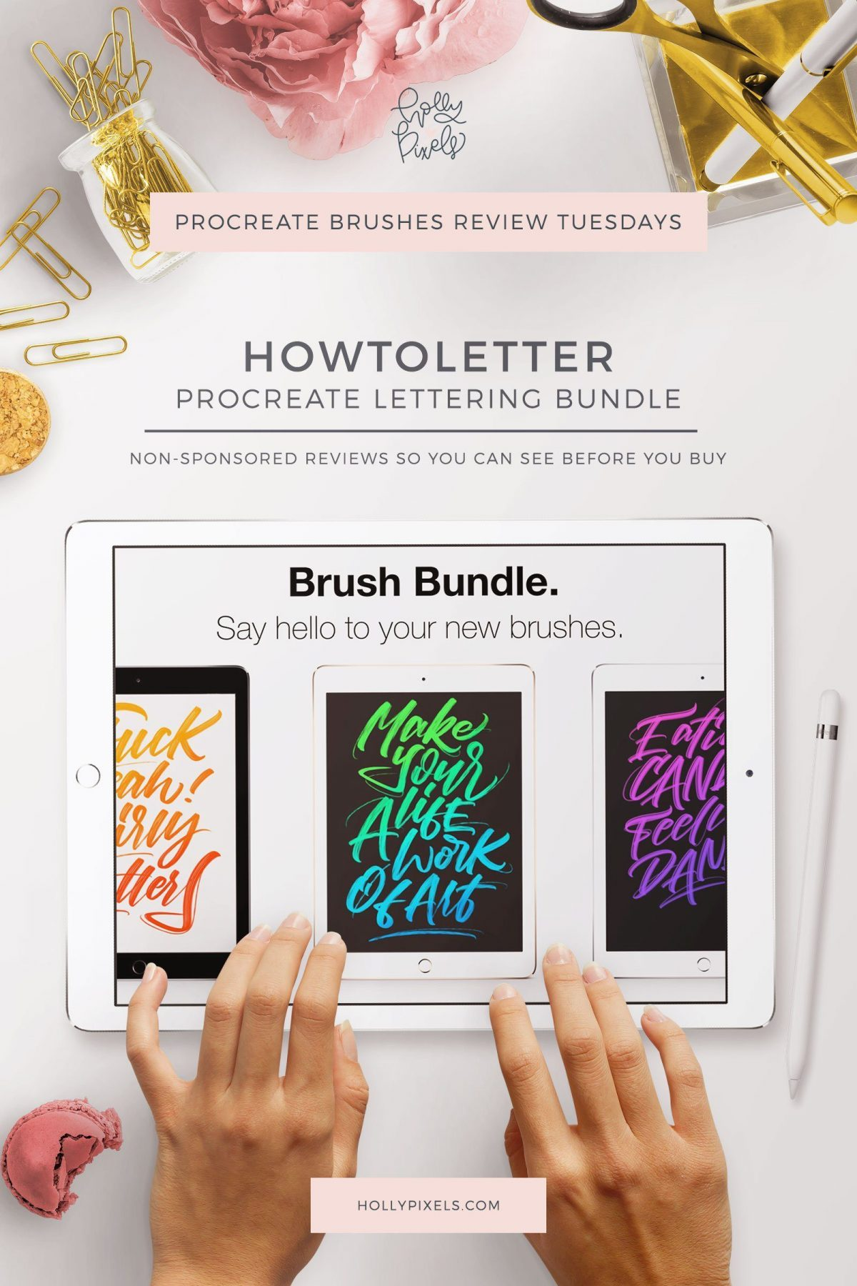 With this week's Procreate Brush Review I'm tackling these fun sign painter style brushes by HowtoLetter that can be purchased at Creative Market.