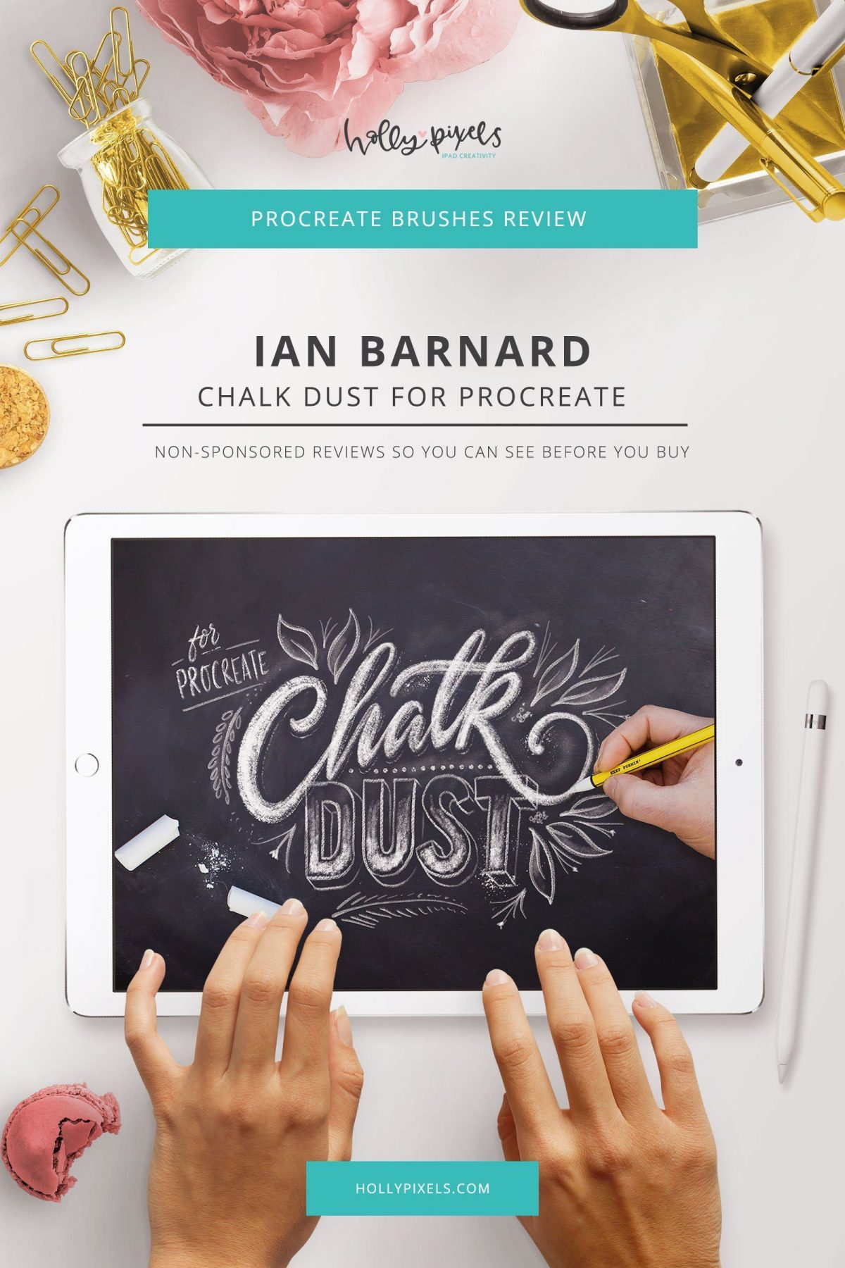 Chalk Dust Procreate Lettering by Ian Barnard | Procreate Brush Review Tuesdays