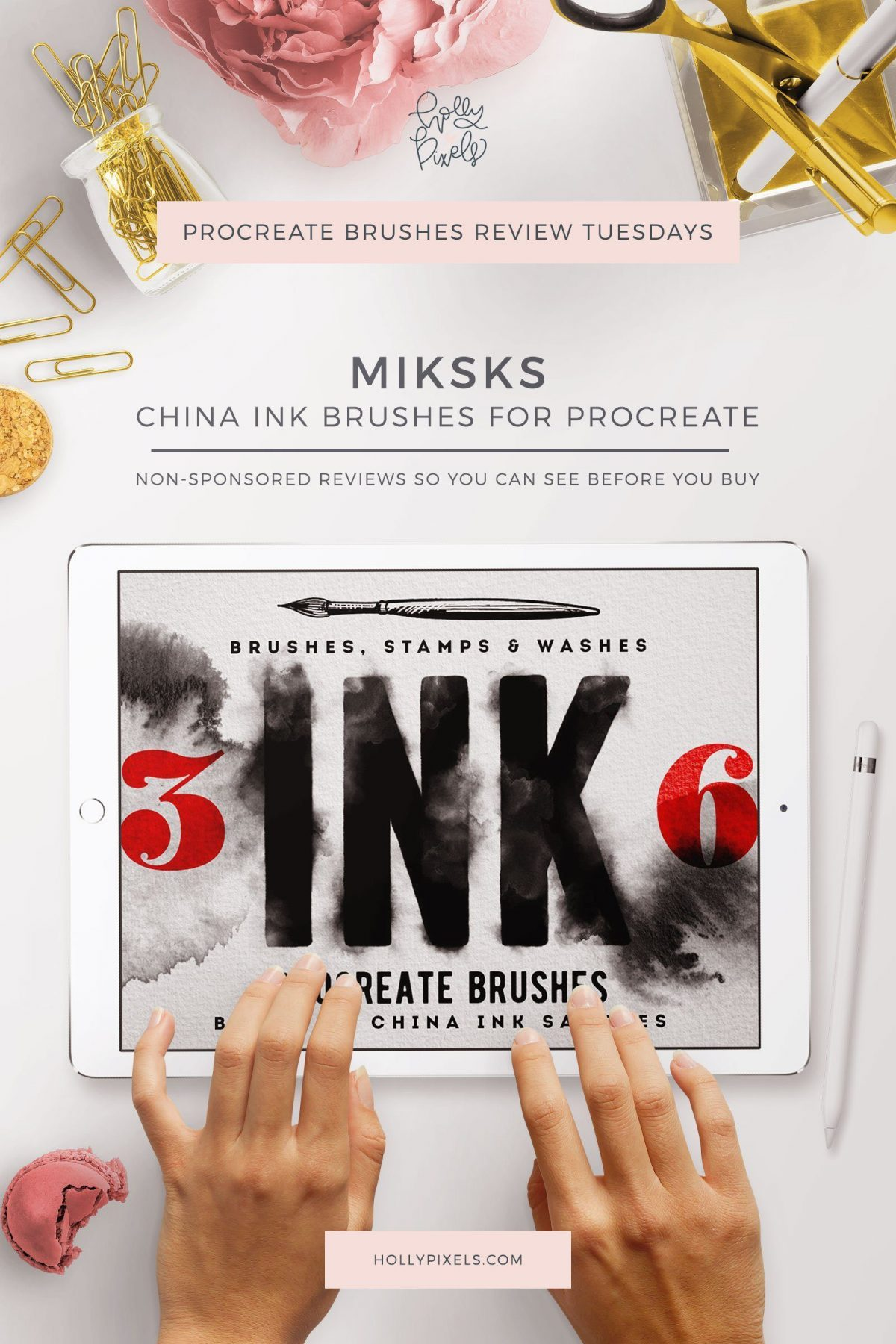 Procreate Brushes Review | China Ink Washes By MiksKS