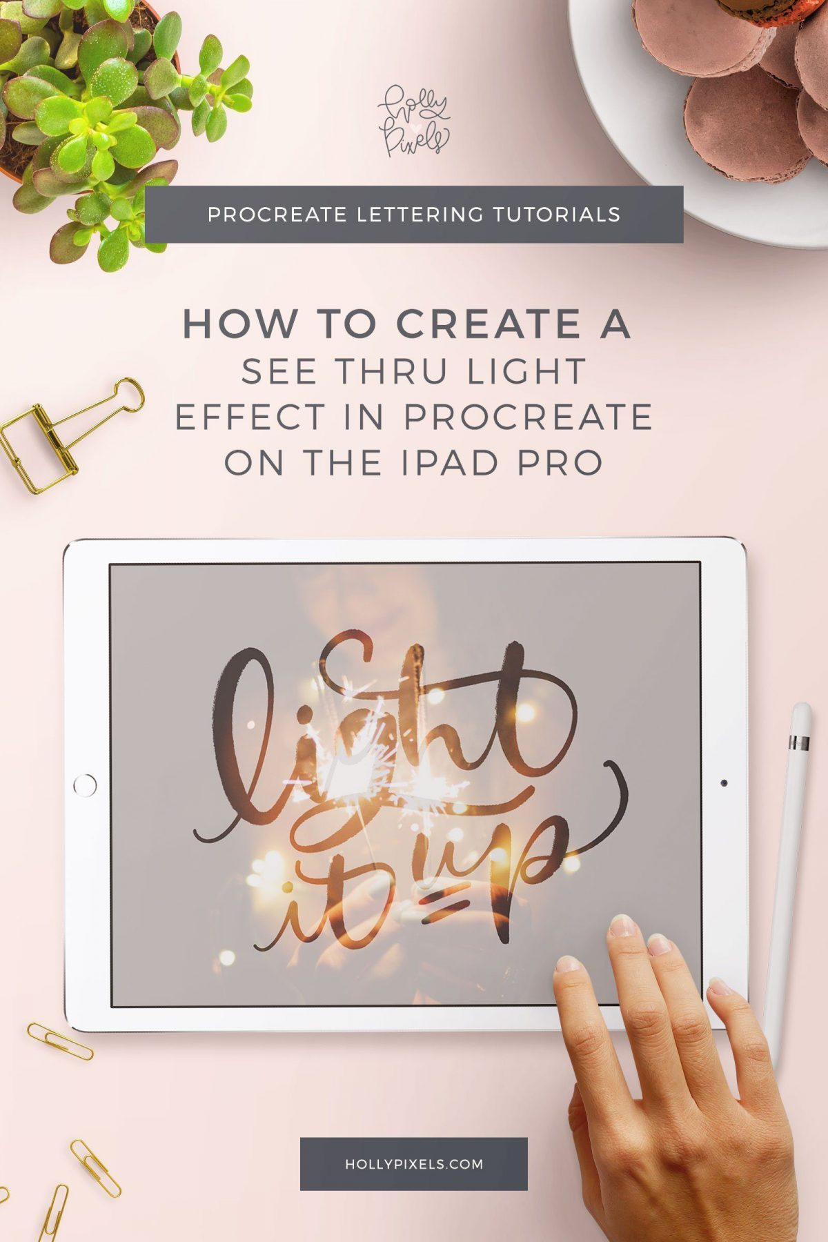 I wanted to create a super easy beginner tutorial with another way to use photographs in your lettering. For this you will create a see through light up effect in Procreate which looks fantastic with sparkler images from Unsplash!