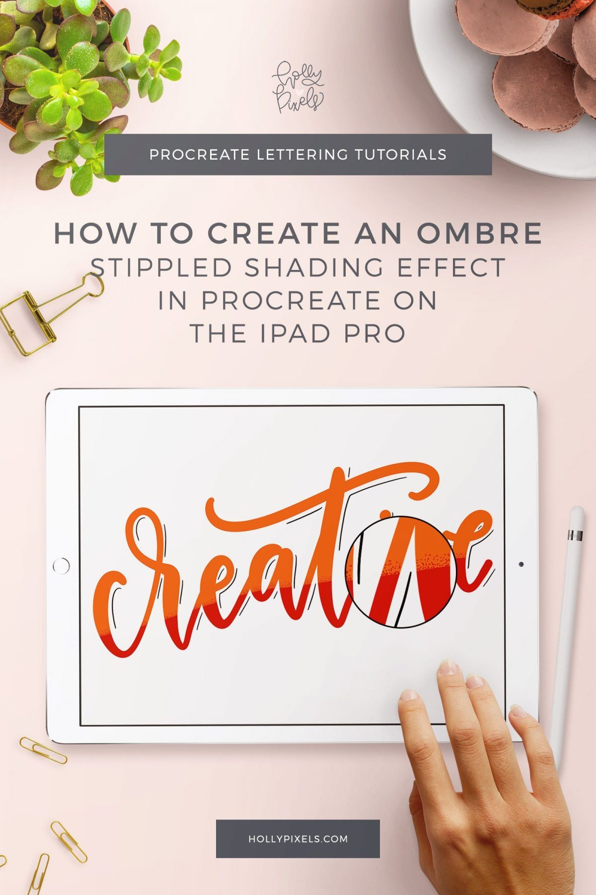 There are tons of ways to create shaded effects on lettering. This week I show you how to create an ombre stippled shading effect on letters in Procreate. Try new ways to change up your lettering by incorporating new styles.
