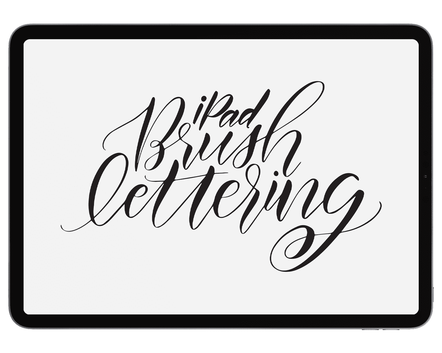 Free iPad Brush Lettering - Holly Pixels