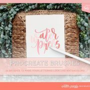 Take control of your iPad lettering with my Procreate brushes for watercolor lettering. Water Pixels is a series of steps to achieve the gorgeous watercolor letters you want!