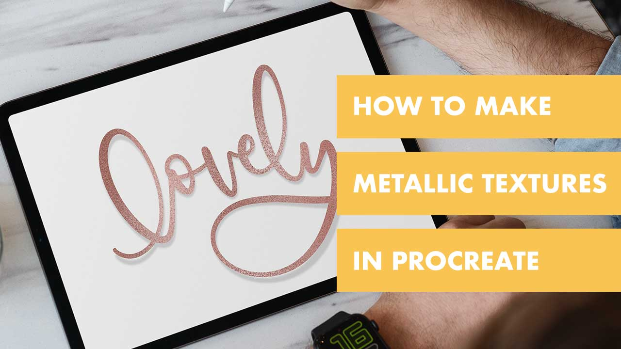 Metallics are a lot of fun. But say you want to make a metallic texture in Procreate instead of buying a JPG file. In this free tutorial for Procreate, you can make it any metallic texture style and color you want!
