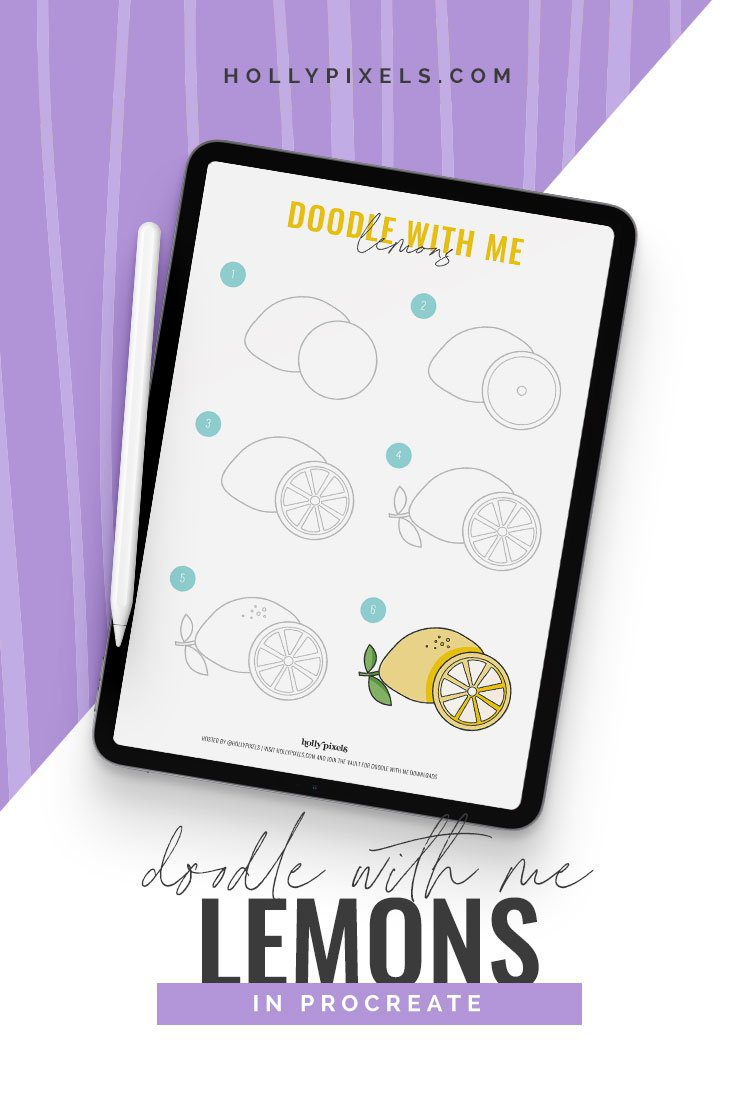 Wanna doodle with me? Let's doodle some really cute lemons using the Procreate app together on our iPads.