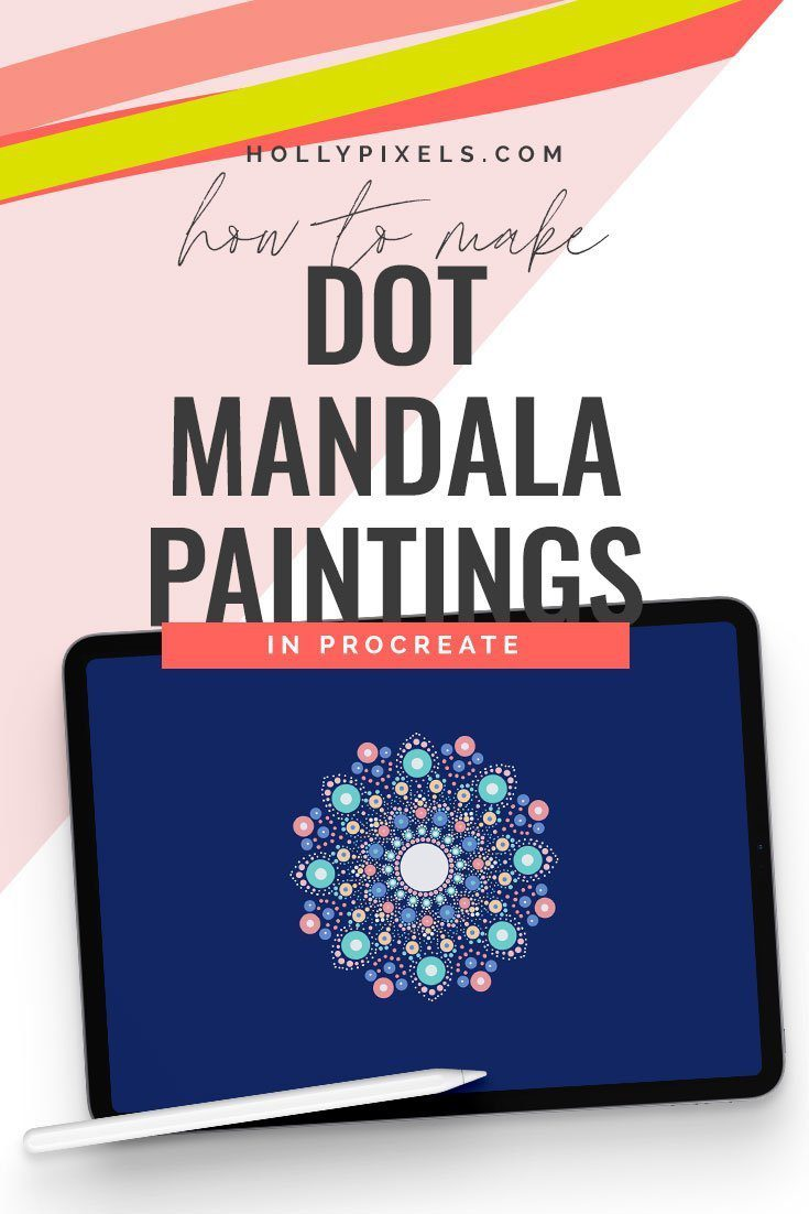 I have been so obsessed with watching dot mandala paintings on rocks on YouTube. So I wanted to show how you too can make dot mandala paintings but in Procreate!