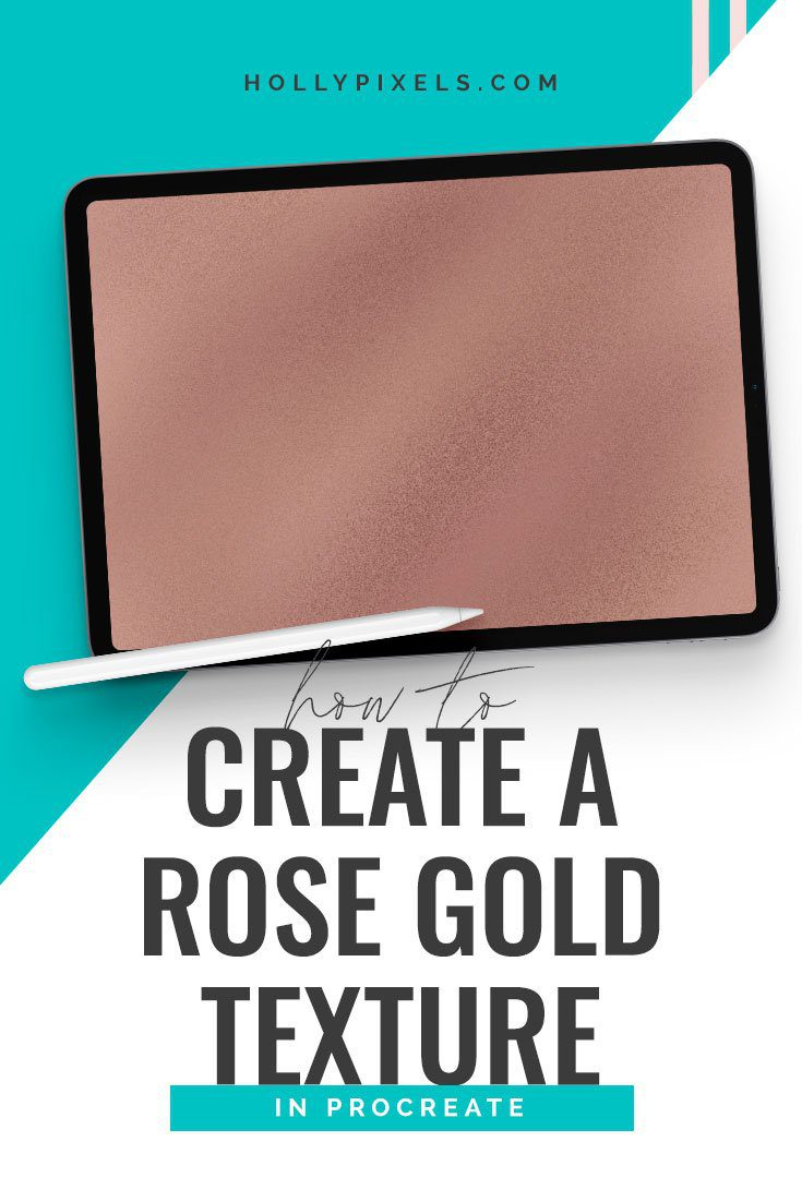 Okay this is gonna be an easy one! I'm going to show you how to create a rose gold foil texture in Procreate so you can apply it to lettering and other graphics in the Procreate all you make.