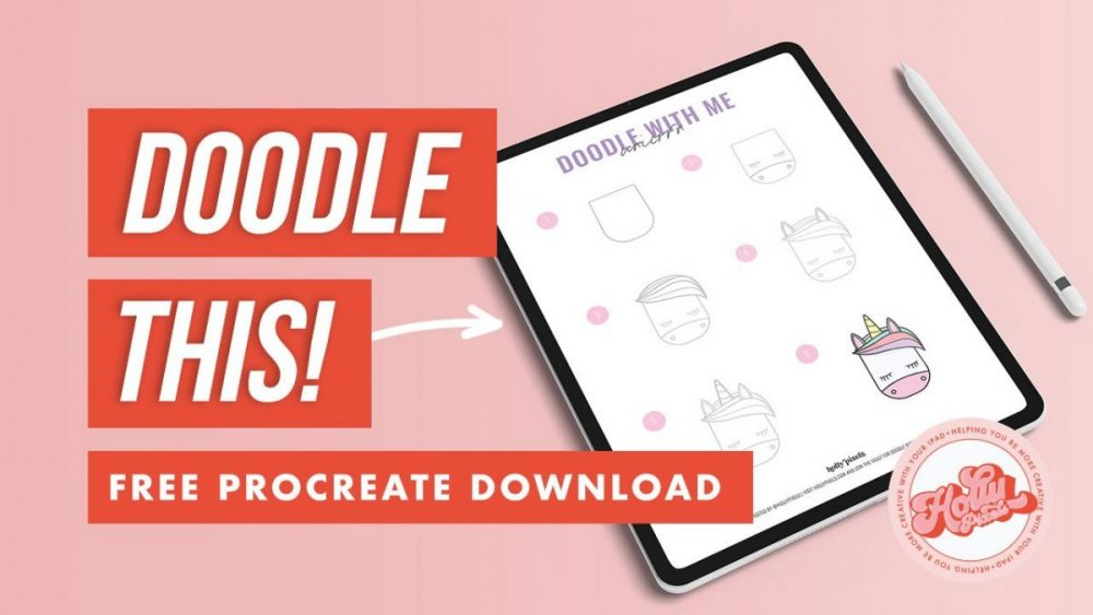 Draw a unicorn in Procreate using our free doodle guide. Use this step-by-step digital art sheet in Procreate to draw a cute unicorn. It's free in our Vault. Drawing digital art in Procreate is easy and fun. Get more fun doodle guides and other Procreate tools like my Durango Procreate Brush at hollypixels.com by joining the Vault for free.