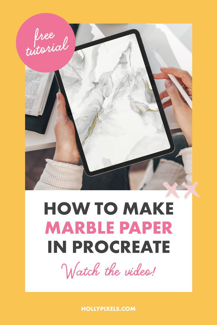 I love marble. I always will. It's clean and classy. So I thought it would be fun to recreate the marble paper look with Procreate in this week's tutorial for you.