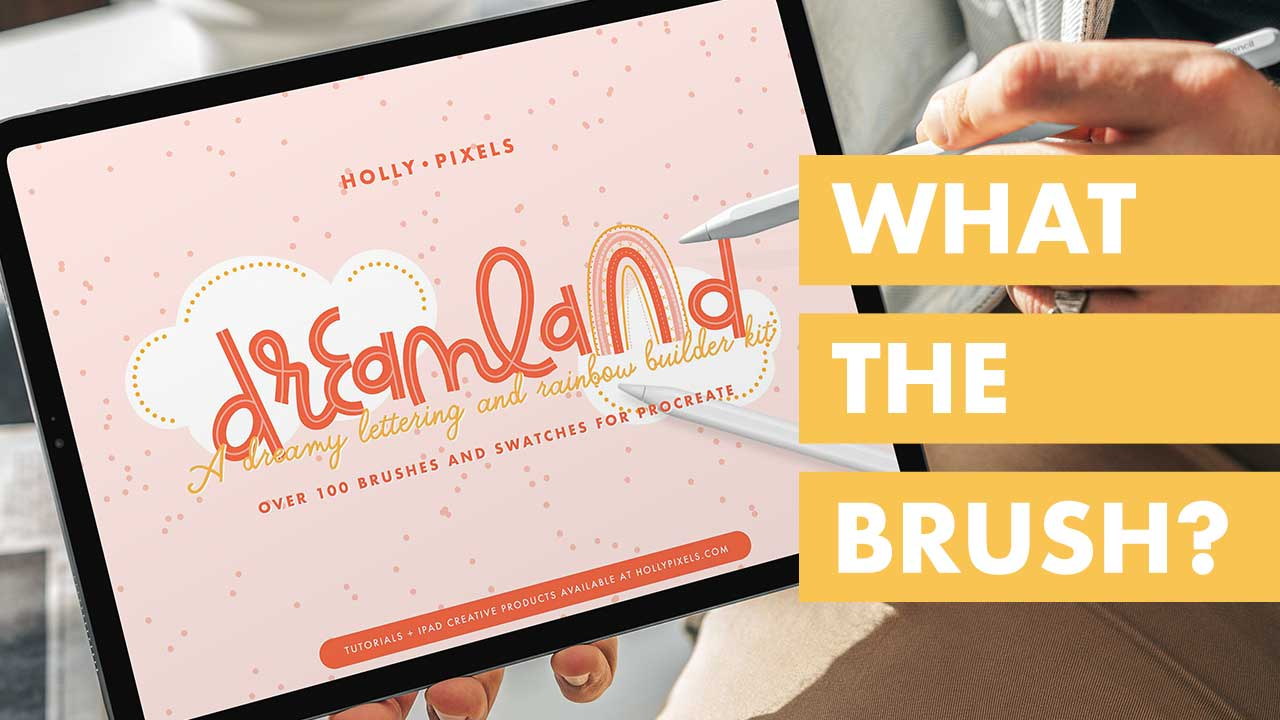 It's time for another Procreate brush review with What the Brush? Wednesday featuring the Dreamland Rainbow Builder by Holly Pixels.
