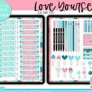 Love Yourself Digital Planner Stickers by A Goodwin Design 6