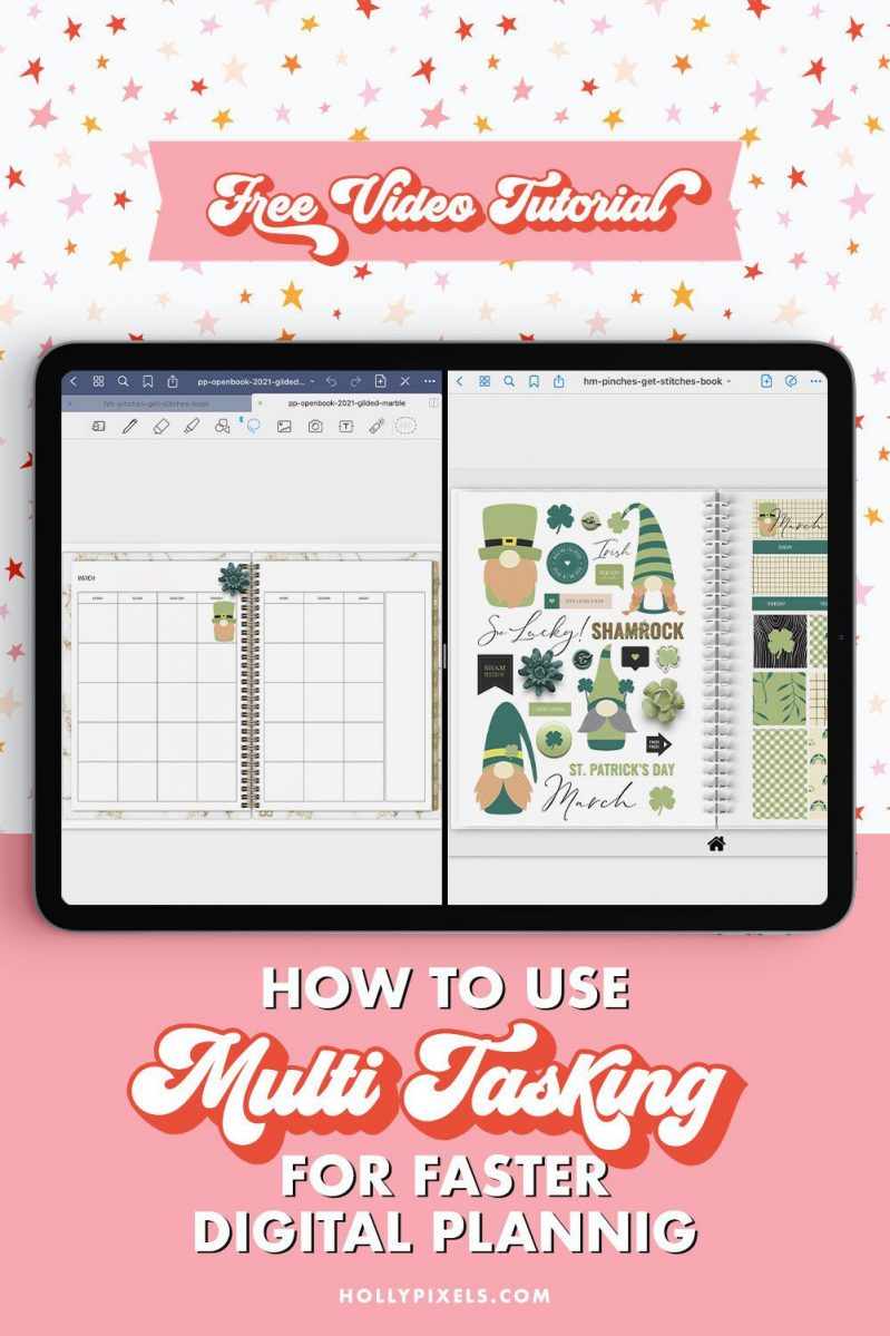 Multitasking on your iPad is a game changer.I don't know about you, but I'm always looking for shortcuts or ways to be a little bit more efficient in life. And, when it comes to digital planning, the multitasking feature on the iPad is it!