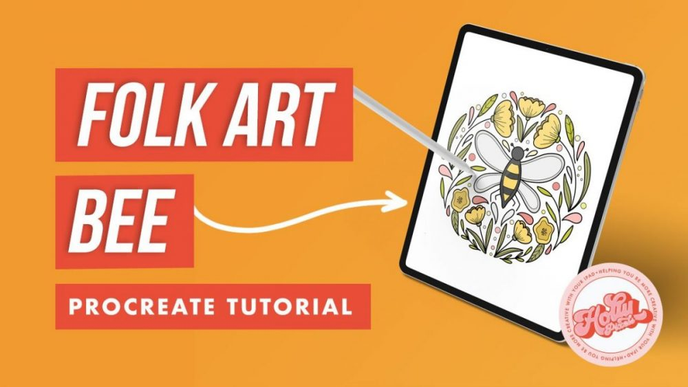 Draw a Folk Art Bee With Me in Procreate
