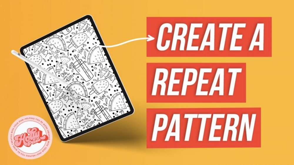 I get asked how to make repeat seamless patterns in Procreate a lot. I don't really do it in that app if I'm being honest. As I've said before being a long-time graphic designer I use Adobe Illustrator a lot for my artwork and so that's where I do it.
