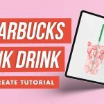 Draw a Starbucks Pink Drink with Me in Procreate